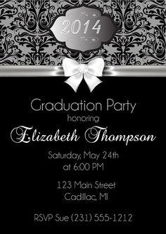 Elegant Graduation Party Invitation - High School or College Graduation Invitation