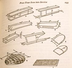 Free diagrams for making your own pressing tools - I will certainly be utilizing this at some point in my sewing future.