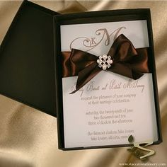 Wedding Invite Ideas (:...... love!!! and our color is brown :)