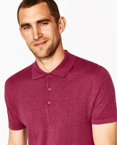 Image 4 of SOLID-COLORED SILK POLO SHIRT from Zara