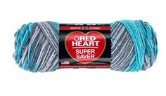 Turquoise and grey variagated yarn...must remember this colorway if making anything for Zeta.  Icelandic Super Saver Economy Yarn | Red Heart