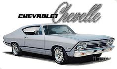 Muscle Car Drawing - 1968 Chevrolet Chevelle by Paul Kuras Best Muscle Cars, American Muscle Cars, Chevy Classic, Classic Cars, 1969 Chevy Chevelle, Car Advertising, Car Drawings, Car Car, Chevy Trucks