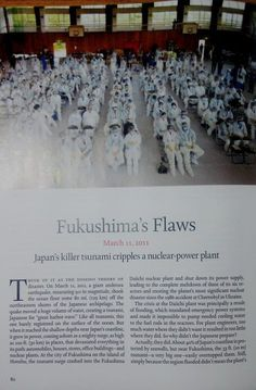 TIME Special Issue about Disasters. Fukushima Daiichi Nuclear Plant.