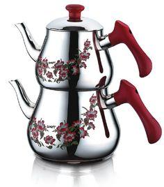 Pramit Mega Desenli Çaydanlık (3,2 lt – 1,7 lt) - Güven Evim