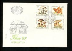 Postal History Yugoslavia Scott#1619-1622 FDC Mushrooms Fungi 3/21/1983 Belgrade