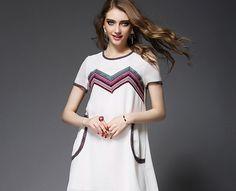 Round Collar Short Sleeve Loose A-Letter-Shape Skirt Skirt One-Piece Dress http://www.fashion-wholesaler.com/dresses-c-10200/round-collar-short-sleeve-loose-alettershape-skirt-skirt-onepiece-dress-p-2240.html