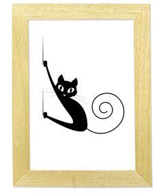 """Cuadro """"Gato Negro #3"""" - Comprar en Marnie Arte"""