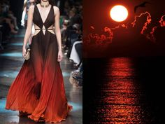 Roberto Cavalli F/W 2015/16 & A sunrise over the Black Sea, Crimea. Photo by Andrew Karpov on Flickr. Collage by Liliya Hudyakova
