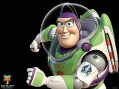 """""""And this is Buzz Lightyear His often repeated catchphrase is: """"To infinity and beyond!""""."""