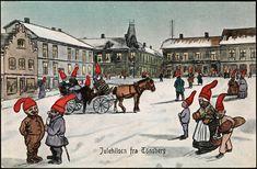 https://flic.kr/p/aMDw6a | Julehilsen fra Tönsberg, 1908 | Motiv / Motif: Postkort / julekort.  Dato / Date: 1908  Kunstner / Artist: ukjent / unknown  Utgiver / Publisher: Fredrik Winsnes  Sted / Place: Vestfold, Tønsberg  Eier / Owner Institution: Nasjonalbiblioteket / National Library of Norway  Lenke / Link: www.nb.no  Bildesignatur / Image Number: blds_04548