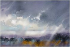 """""""Mist on the Mountains"""" Mourne - Northern Ireland thomas w schaller watercolor 18x24 inches 16 sept. 2014"""