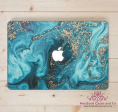 Marbled Wave MacBook Case. MacBook Case. Top (printed) and Bottom (clear) Hard Plastic MacBook Case