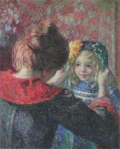 Madame Lebasque and her daughter Marthe Henri LEBASQUE (1865-1937)