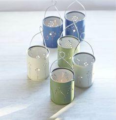 DIY Tin Can Lanterns | Click Pic for 24 DIY Garden Lighting Ideas | DIY Outdoor Lighting Ideas