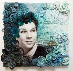 Canvas made at Stockholm Scrap Class, Feb 2013. Class instructed by Finnabair :)