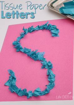 This tissue paper learning activity for preschoolers is such a fun way to practice letter formation! You can also do it with sight words, word families and names!