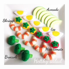 Pretend Felt food Play food Helthy salad set von TomomoHandmade
