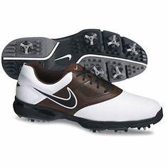 Nike Heritage III Golf Shoes 2013 - White/Black/Cool Chocolate/Light Grey