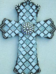 Mosaic Cross Redeemer by BrokenBeautyMosaics on Etsy