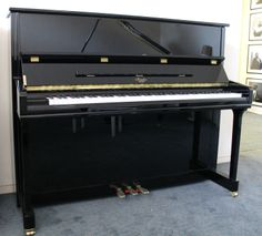 Irmler P122E in Black available to buy at www.shacklefordpianos.squarespace.com