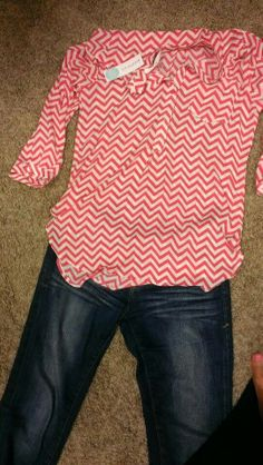 Like this top because it has smaller scale chevron and is bright.