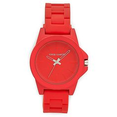 Vince Camuto Coral Silicone Strap Watch found on Polyvore