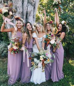 Purple Bridesmaids Dresses Perfect Looks For A Colour Palette