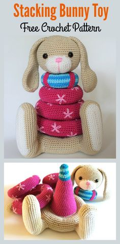 Stacking Bunny Toy Crochet Pattern #crochetpattern