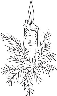 265RA - Christmas candle