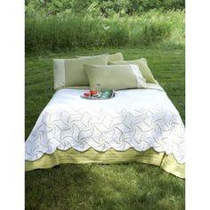 Spinning Wheels Bedspread Free Crochet Pattern. Beautiful pinwheel lace designs swirl across this full-sized bedspread. Free Pattern More Great Looks Like This