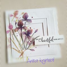 Featuring Penny Black's Iris die SKU 404507 available at www.addictedtorubberstamps.com  Card created by Anita kejriwal