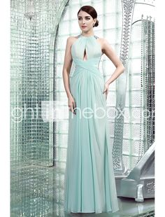 4c3f6df2700f Ίσια Γραμμή Ζιβάγκο Μακρύ Σιφόν Επίσημο Βραδινό Φόρεμα με Χάντρες με LAN  TING Express 2730094 2018