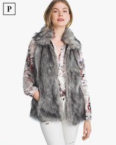 Petite Faux-Fur Vest