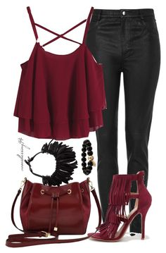 """""""Oxblood"""" by avonsblessing94 ❤ liked on Polyvore featuring Topshop, Wild Diva, M&Co, Monies, women's clothing, women, female, woman, misses and juniors"""