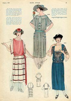 """Рубиновый будуар - Обложки и страницы американского журнала """"Elite Styles"""" 1920-х годов."""