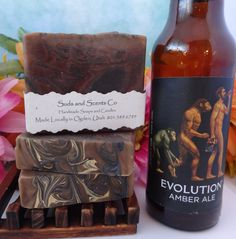 DRAGON'S BLOOD Handmade Body soap with Beer, Goats Milk, Hemp Seed Oil and Activated Charcoal by SudsNScentsCo on Etsy
