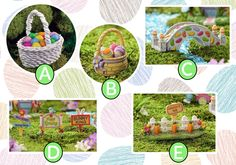 Easter fairy garden decor. www.teeliesfairygarden.com ... Add this adorable Easter decorations to your garden today and make it look more adorable and fun! #easterdecorations