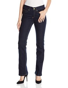 RafaellaRDenim with BenefitsTM Womens Petite Weekend Bootcut Slim Fit Jeans Dark Indigo 4 * Be sure to check out this awesome product.