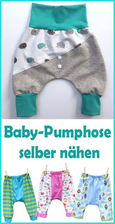 Sew baby pants - free pattern & instructions - Bloomers are comfortable pants for toddlers who are just discovering the world and are taking their - Sewing Toys, Baby Sewing, Free Sewing, Sewing Clothes, Sew Baby, Baby Baby, Doll Clothes Patterns, Dress Patterns, Sewing Patterns