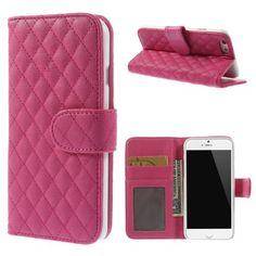 Köp Plånboksfodral Apple iPhone 6/6S Quilted cerise online: http://www.phonelife.se/planboksfodral-apple-iphone-6-quilted-cerise
