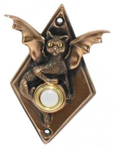 The Doorbell Company: Cat with Bat Wings