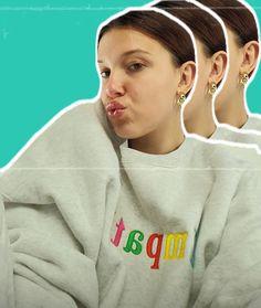 Millie Bobby Brown, Celebrities, Sweatshirts, Sweaters, Fashion, Moda, Celebs, Fashion Styles, Trainers