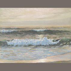 Frank William Cuprien (American, 1871-1948) The golden ray 20 x 26in
