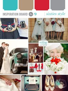 Mad Men inspired board full of fun style ideas for your wedding.