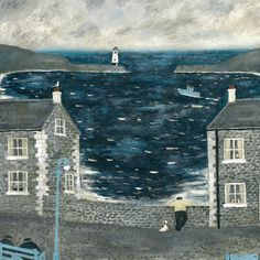 The Harbour Wall - Gary Bunt - Portland Gallery Am Meer, Naive Art, Art For Art Sake, Outsider Art, Pretty Pictures, Art Pictures, Painting & Drawing, Watercolor Painting, Home Art