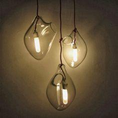 METRONOME: Organic-form blown glass pendant lights