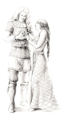 Aikanaro and Andreth. by tuuliky.deviantart.com  Aikanaro, Aegnor's Qeunya mother name, fell in love with Andreth, but they could not marry because of the Eldar's law that marriages should not be conducted during times of war. It was said that he would take no Elven bride for her sake. Before they could marry, he was killed in the Dagor Bragollach.