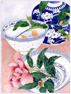 camelia ginger jar and kumquats | Flickr - Photo Sharing!