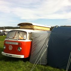 In full camper mode at reading festival