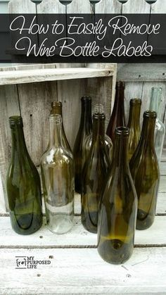 Finish Max Painted Glass Bottles my-repurposed-life-remove-labels-repurposed-wine-bottles Wine Craft, Wine Bottle Crafts, Liquor Bottles, Bottles And Jars, Fall Wine Bottles, Wine Bottle Vases, Wedding Wine Bottles, Christmas Wine Bottles, Bottle Painting